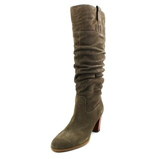 Tommy Hilfiger Trinety Women Round Toe Suede Green Knee High Boot