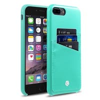 CobblePro Turquoise Leather with Wallet Flap Pouch For Apple iPhone 7 Plus