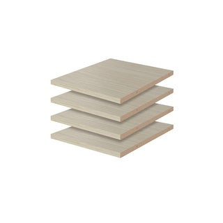 "Easy Track RS1412  12"" Shelves for Easy Track Closet System - 4 Pack"