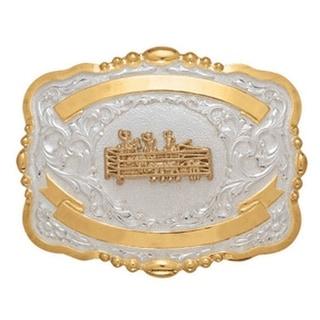 Crumrine Western Belt Buckle Kids Child Cutting Penning Gold 384