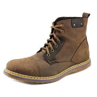 GBX Fane Men Round Toe Leather Brown Boot