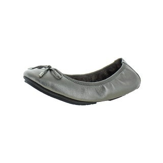 Me Too Womens Halle52.0 Ballet Flats Leather Metallic