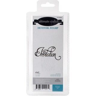 "Ultimate Crafts Sweet Sentiments Hotfoil Plate 2.8""X1.5""-Invitation Flourish"
