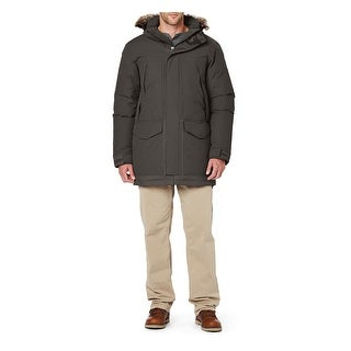 The North Face Mchaven Parka X-Large Graphite Gray Hooded Down Fill Coat