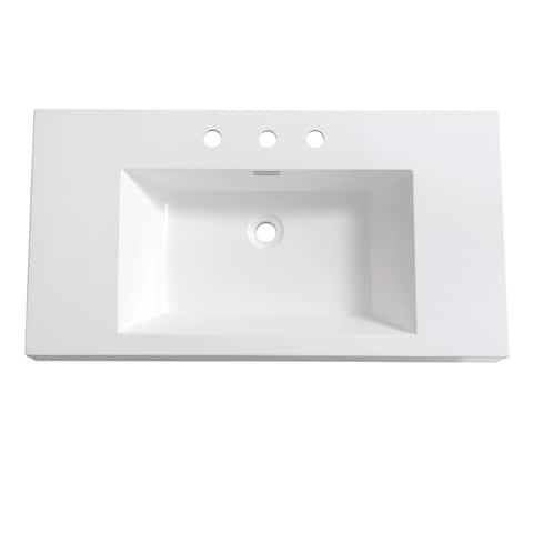 "Fresca Vista 36"" White Integrated Sink / Countertop"