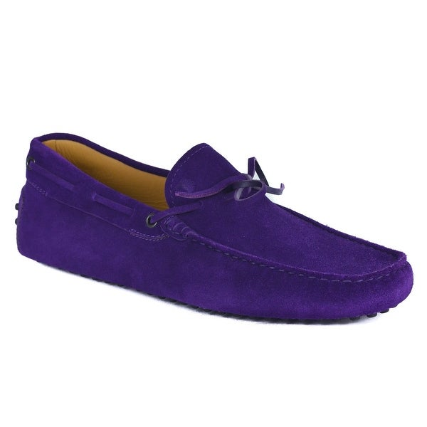 6441953ea18 Shop Tods Mens Purple Gommino Driving Suede Shoes - Free Shipping ...