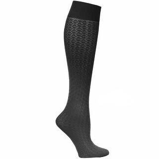 Women's Textured Mild Graduated Compression Trouser Socks