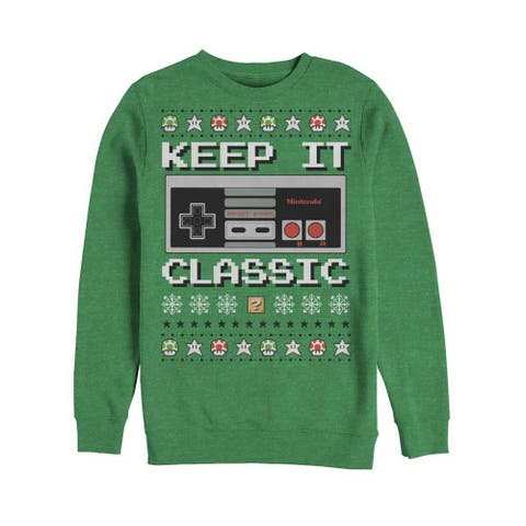 Nintendo Keep it Classic Controller Ugly Christmas Sweater