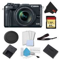 Canon EOS M6 Mirrorless Digital Camera with 18-150mm Lens Basic Bundle w/ 64GB Memory Card - Intl Model