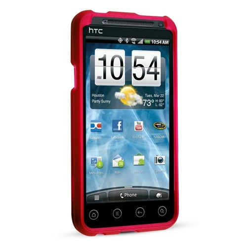 Technocel Soft Touch Shield for HTC EVO 3D - Red