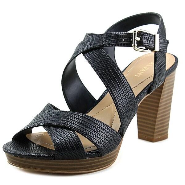 Alfani Palaria Women Open Toe Leather Black Sandals