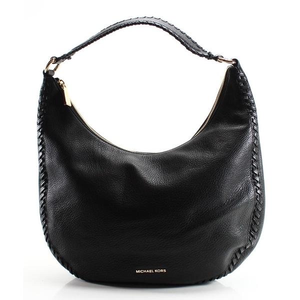 1d38084d0186b5 Shop Michael Kors NEW Black Pebble Leather Lauryn Shoulder Bag Tote ...