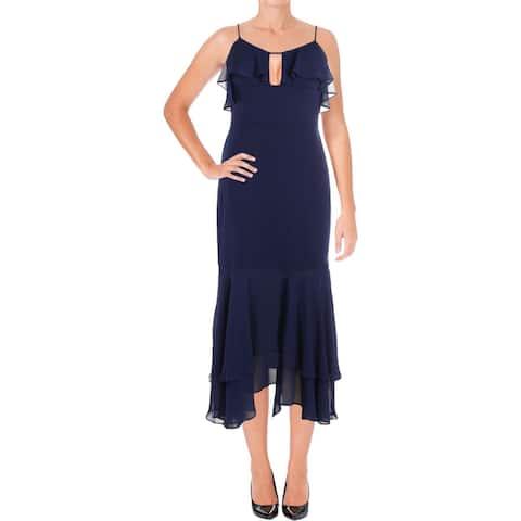Aidan by Aidan Mattox Womens Scuba Dress Crepe Chiffon