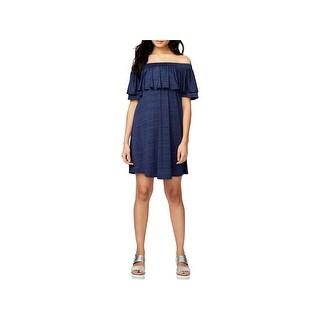 Rachel Rachel Roy Womens Sundress Off-The-Shoulder Mini