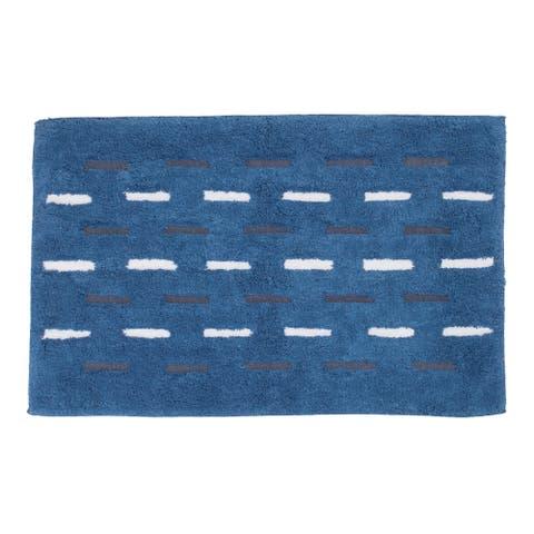Dash Bath Rug Blue