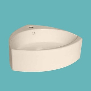 Bathroom Vessel Sink Biscuit China Faucet Hole Triangle | Renovator's Supply