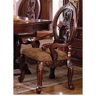 Link to Furniture of America Naiz Traditional Cherry Arm Chair Set of 2 Similar Items in Dining Room & Bar Furniture