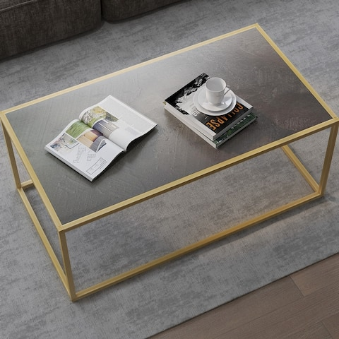 Contemporary Square End Table - Modern Coffee Table, Sofa Table for Living Room and Office