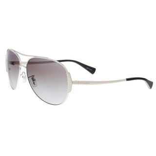 Coach HC7067 901511 Silver/Black Aviator Sunglasses - 59-14-140
