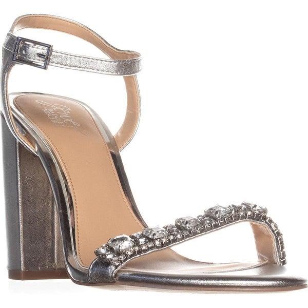 Jewel by Badgley Mischka Hendricks Rhinestone Dress Sandals, Silver