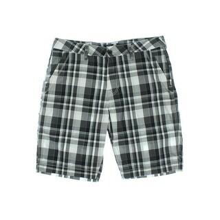 Union Mens Cotton Plaid Casual Shorts - 29