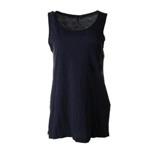 Calvin Klein Jeans Womens Juniors Tunic Top Slub Sleeveless