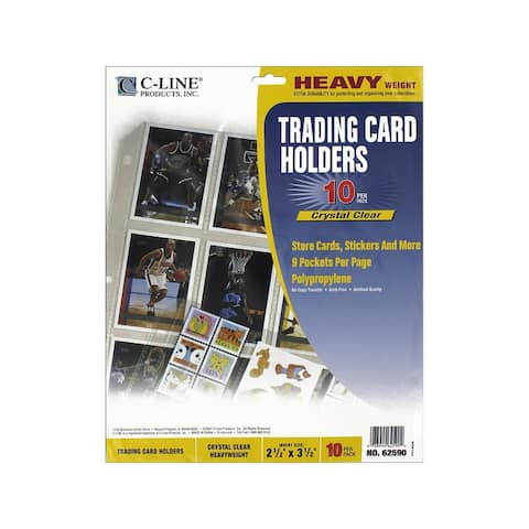 62590 c-line trading card holder 9x11 5 top load 10pc