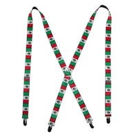 Buckle Down Mexican Flag Print Suspenders
