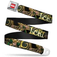 Marvel Universe Marvel Full Color Red White Loki Poses Black Gold Green Seatbelt Belt