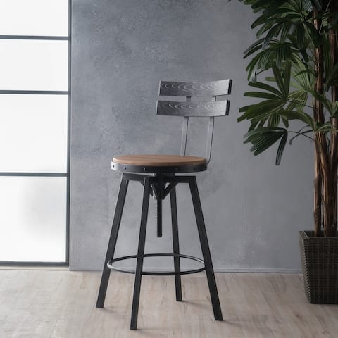 Alanis Fir Wood Antique 26-inch Bar Stool by Christopher Knight Home