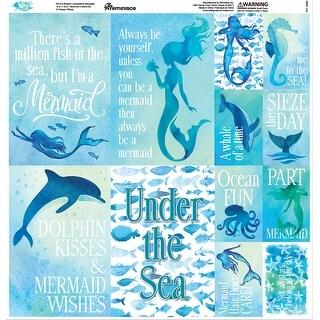 "Mermaid's Tale Poster Stickers 12""X12""-"
