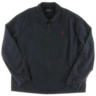 Polo Ralph Lauren Mens Big & Tall Windbreaker Jacket Poplin Monogram