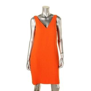 Lauren Ralph Lauren Womens Party Dress V-Neck Crepe