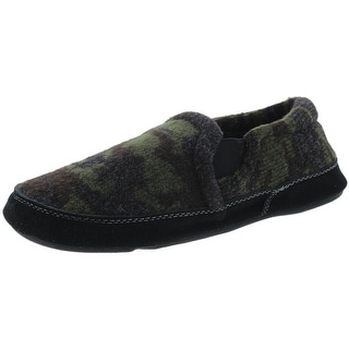 Acorn Mens Fave Gore Tweed Camouflage Clog Slippers - 7.5/8.5