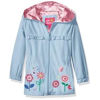 Pink Platinum Girls 12-24 Months Garden Applique Windbreaker Jacket