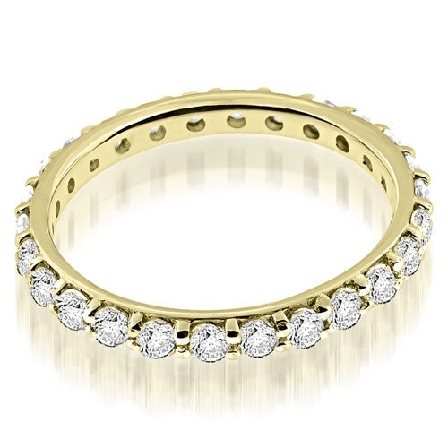 1.30 cttw. 14K Yellow Gold Petite Round Cut Diamond Eternity Band Ring
