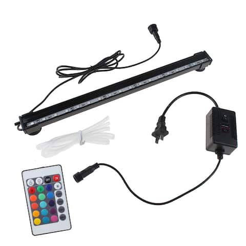 Underwater LED Aquarium Fish Tank Air Bubble Light RGB 16 Colors with Remote NEW - M