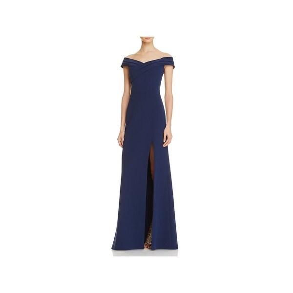 Aidan Mattox Womens Evening Dress Off-The-Shoulder Crossover