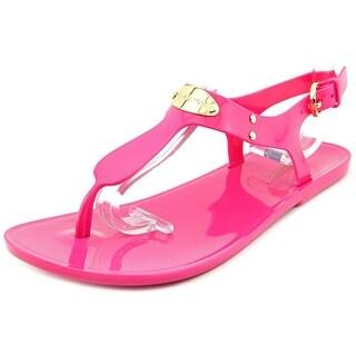 Michael Michael Kors Plate Jelly Women  Open Toe Synthetic Pink Thong Sandal