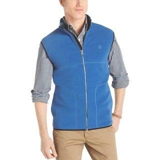 Izod Big and Tall Polar Fleece Full Zip Mockneck Vest True Blue 2XLT Tall