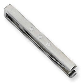 Chisel Brushed Stainless Steel and Enamel Tie Bar