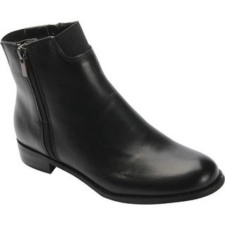 Ros Hommerson Women's Belinda Ankle Bootie Black Leather