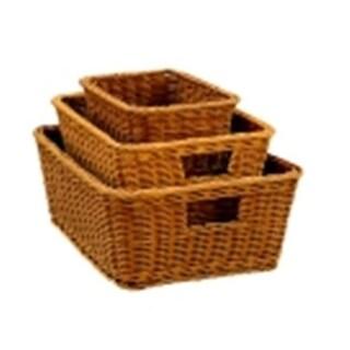 Large Polypropylene Wicker Basket, 6.2 x 13.25 x 18.25 in.