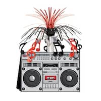 "Pack of 12 Boom Box 80's Theme Party 3-D Cascading Centerpiece Decorations 14"" - Multi"