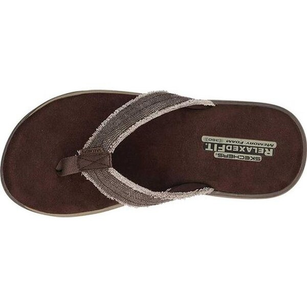 Shop Skechers Men's Relaxed Fit Supreme Bosnia Chocolate