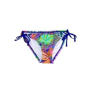 Trina Turk Women's Tropical Side Tie Bikini Bottom - Multi