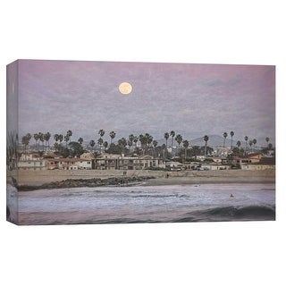 """PTM Images 9-102236  PTM Canvas Collection 8"""" x 10"""" - """"Moonlight Shore"""" Giclee Beaches and Waves Art Print on Canvas"""