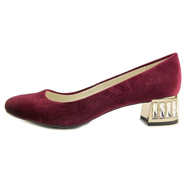 Anne Klein Womens Haedyn Fabric Round Toe Classic Pumps