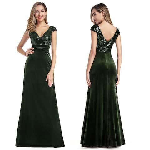 Ever-Pretty Womens Elegant Sequin Velvet Evening Dresses for Women 0945