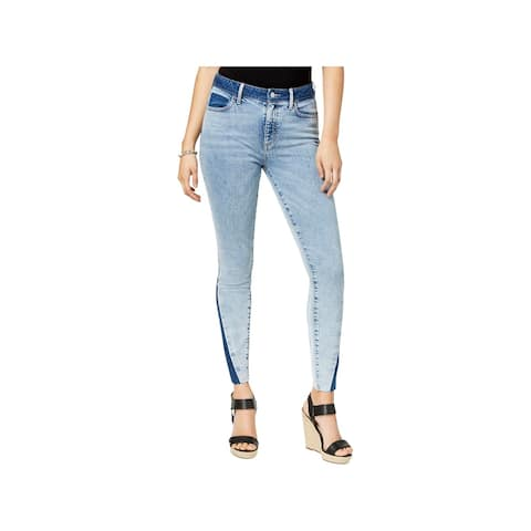 Guess Womens 1981 Skinny Jeans Denim Mixed Media